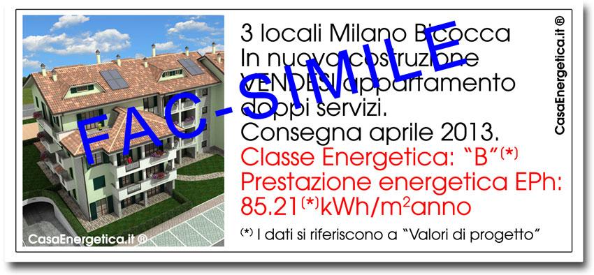 Obbligo classe energetica annunci immobiliari for Annunci immobiliari