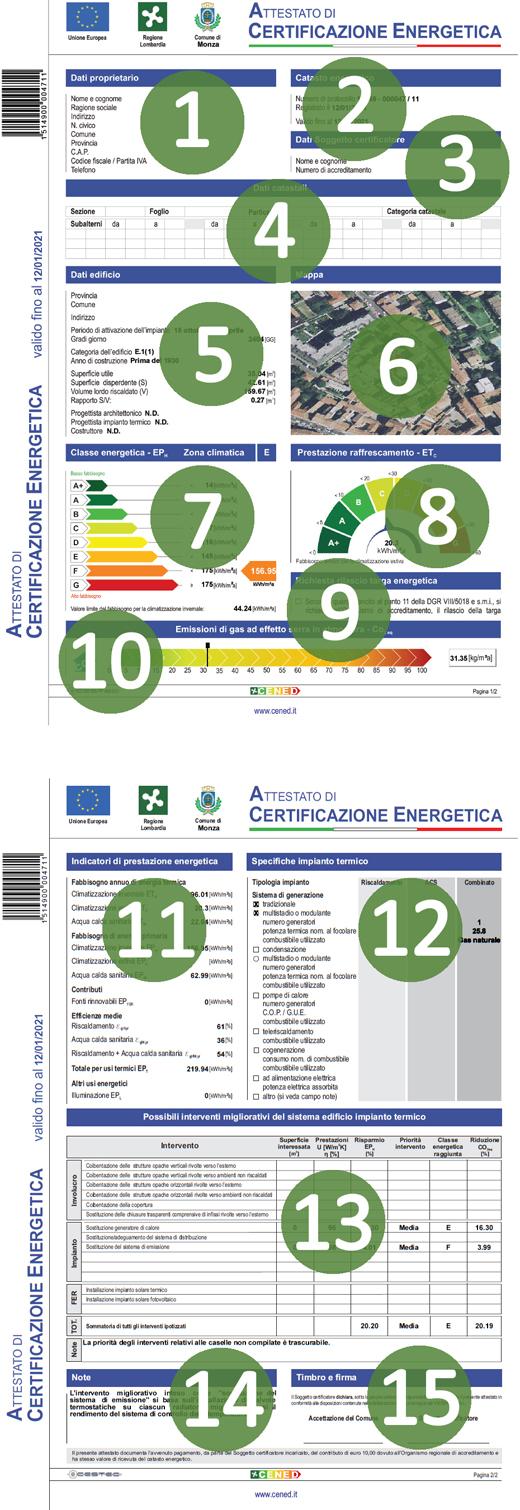 Esempio certificazione energetica tutte le parti che - Elenco classi catastali immobili ...